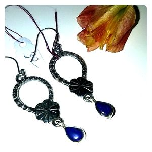 Sterling Silver lapis earrings